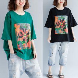 Ladies Half Tee Australia - Cartoon Print 2019 Women Cotton T-shirt Summer Casual half Sleeve O-Neck T-shirt Ladies Black Large Size Tee Top V641