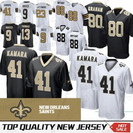 New Orleans 41 Alvin Kamara Saints Jersey 9 Drew Brees 13 Michael Thomas 23  Marshon Lattimore 28 Adrian Peterson 88 Dez Bryant 926cee09d