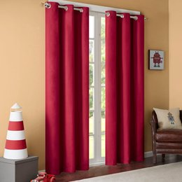$enCountryForm.capitalKeyWord Australia - GIGIZAZA Black Out Thermal Solid 95% High Blinds Window Curtains Red Color Custom Size Shade Blinds for Living Room Pink Black