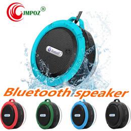 $enCountryForm.capitalKeyWord Australia - C6 Potable Wireless Bluetooth Speaker Waterproof Shower Speaker Drive Bult-in Stereo Music Player Snap Hook Suction Cup With Package