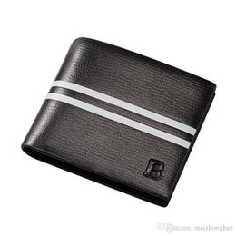 Dress Stone Color Australia - Wallets Gifts For Men Nice Business Purse High Quality Pu Lether Men Famous Brand Wallet Black Color