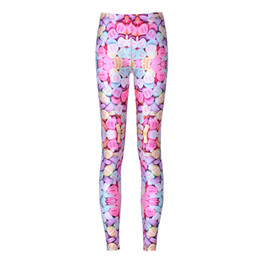 Ladies Wearing Leggings Australia - Girls Leggings Love Heart Candy Sweets 3D Digital Full Printed Skinny Yoga Wear Pants Woman Stretchy Trousers Lady Sport Jeggings (YLgs3565)