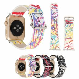 Women Watch Beauty Australia - for Apple Watch Band Dream Space Leather for iwatch Hand Loop Unique Beauty of Line Adjustable Wrist Strap with 42mm 38mm for Men Women