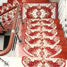 Carpet stair mats online shopping - 1PC Stair Tread Pastoral Style Mat Floral Non Skid Step Carpet Rug Home Decor
