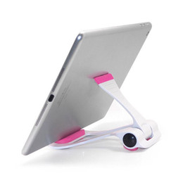 Foldable Desk Stand For Tablets UK - Universal Tablet PC Holder Foldable Adjustable Angle Desk Phone Holder Stand Flexible for Samsung iPad Tablet PC 13*10*2.5cm
