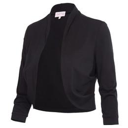 $enCountryForm.capitalKeyWord NZ - Bolero Shrug Women Casual 3 4 Sleeve Cropped Basic Stitch Spring Short Stretchy Outerwear Womens Coats Slim Outwear Tops Jacket