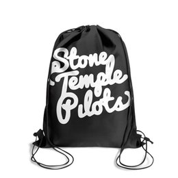 string bow tie NZ - Drawstring Sports Backpack vintage Stone Temple Pilots white logo personalized daily limited edition Pull String Backpack