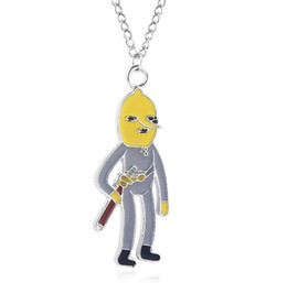 Kids jewelry rope chain online shopping - 2019 Adventure Time Lemongrab Jake Finnn Choker Necklace Cute Cartoon figure Pendant Necklace for Women Men Kids Christmas Jewelry