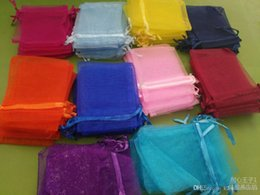 Organza vOile gift packaging bags online shopping - 7 cm Solid Multi Color Organza Jewelry Bags Luxury Wedding Voile Gift Bag Drawstring Jewelry Packaging Christmas Gift Pouch