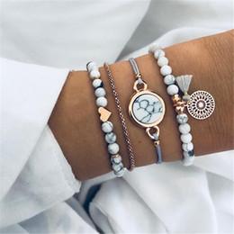 infinity beads 2019 - Heart Pearl Beads Infinity Pink Tassel Shell Star Anklets Summer Beach Jewelry Charm Bracelets For Women Female Jewelry