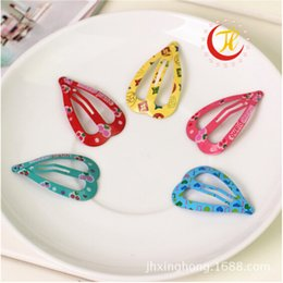 Acrylic Baby Hair Clip Australia - Korean Multicolor Cute Paint Barrettes For Children Baby Hair Clips For Girls Clasp Hairpins Accessories Headwear Wholesale Clip