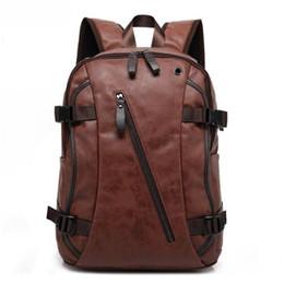 Sas Laptop Australia - Brand Designer Men Leather Backpack Male Back Pack Bag Youth Bagpack Men's Backbag Laptop Backpack Black Rucksack Sas a Dos