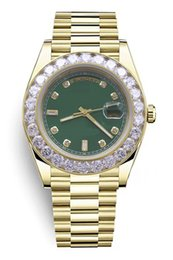 $enCountryForm.capitalKeyWord Australia - S103 new men's luxury watch, calendar m228398tbr, President, gold stainless steel case, diamond dial, diamond edge, green dial.