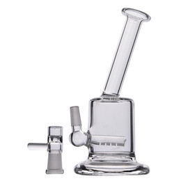 Chinese  150mm High Sall Mini Bongs Recycler Oil Rigs Clear Thick Glass Water Pipes Free Shipping With Herb Bowl Cheap manufacturers
