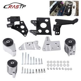 Toptan satış RASTP-70A K-serisi Alüminyum Yarış Motor Mounts HONDA CIVIC 96-00 EK Şasi EKK2 DOHC Motor RS-EM1008-EK için