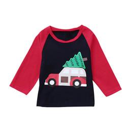 37e82b305 Ropa de navidad para bebés Ropa de bebé para bebés Tops y camisetas Niños  Niños Chicas Niños Manga larga Coche Árbol Camiseta impresa Top ropa S21   F