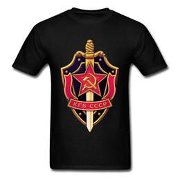 CCCp shirt online shopping - Russia CCCP T Shirt KGB Symbol Men Logo Brand New Fashion Sword Power T Shirts Men Patriotic Tshirt White Black Tees New T Shirt