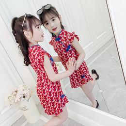 $enCountryForm.capitalKeyWord Australia - Girls dress summer new children's clothing 2019 children's chiffon skirt national wind floral sleeveless cheongsam children's skirt