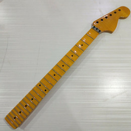 $enCountryForm.capitalKeyWord NZ - Full scalloped 22 frets Maple guitar Neck for ST style yellow Floyd rose nut