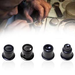 $enCountryForm.capitalKeyWord Australia - 4pcs set Portable 20X 15X 10X 5X Monocular Magnifying Glass Loupe Lens Jeweler Watch Magnifier Tool Eye Magnifier Len Repair Kit