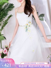 Skirt Suit Patterns Australia - Fairy2019 Princess Beautiful White Camisole Dress Sexy Summer Thin Temperament New Pattern Rendering Within Build Skirt 921561