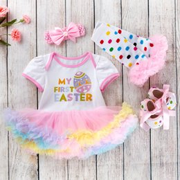 Easter Tutus For Babies Australia - Cotton Baby Girls Clothes 1 Year 1st Easter Dress Party Dresses For Girl Toddler Kids Baptism Gown Tutu Outfits With Headband Q190520