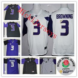 d3df0a6fb Mens NCAA Washington Huskies Jake Browning College Football Jerseys Stitched   3 Jake Browning Washington Huskies Rose Bowl Game Jersey S-3XL