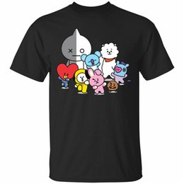 More Man shirt online shopping - Witch Army Shooky K Pop Bt21 Lovers Short Sleeve Black T Shirt Size S Xl More Size And Colors Tee Shirt
