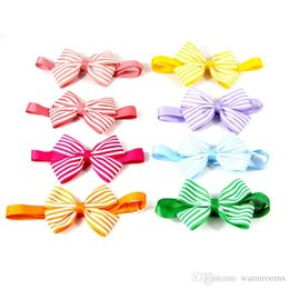 $enCountryForm.capitalKeyWord NZ - Hot sale Colorful Adjustble Pet Dog Puppy Tie Bow Ties Stripped Cat Neckties Dog Bowknot Grooming Supplies Fashion Dog Accessorie
