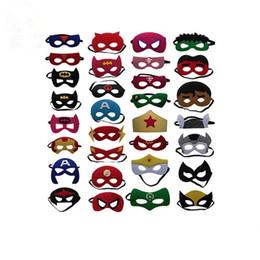 $enCountryForm.capitalKeyWord Australia - Halloween decoration mask Children's Eye Mask Superhero Christmas Cartoon felt mask Masquerade Dance Party masks ST572