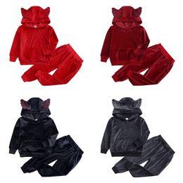 $enCountryForm.capitalKeyWord UK - Spring Free DHL Newest Designs Kids Boys Girls Null Tracksuits Sports Autumn Winter Velvet Children Clothing Suits Little Girls Hoodies Sets