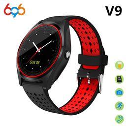V9 Clock Camera Australia - 696 Smart Watch V9 Support 2G SIM TF card Camera Sport Health MP3 music Clock men women Smartwatch For Android&IOS PK DZ09 V8 Y1