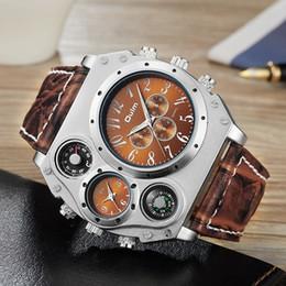 $enCountryForm.capitalKeyWord Australia - New Model Oulm Watch Men Quartz Sports Leather Strap Watches Unique Male Military Wristwatch Big Quartz Clock Relojes Hombre Y19052103
