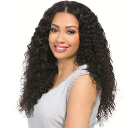 Discount wig styles lace fronts - Adjsutable Size Synthetic Salon Curly Fashion Ladies Party Women Wig Natural Long Daily Water Wave Styling Lace Front