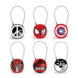 Discount numbers cartoon - The avengers locks Code Number cartoon Padlock round mini metal For Luggage Zipper Bag Backpack Handbag Suitcase Drawer