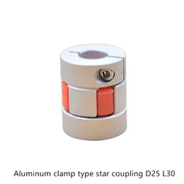 Clamp Couplings Australia - Flexible plum clamp coupler D25 L30 shaft size CNC Jaw shaft coupling Inner hole 5mm to 6.35mm