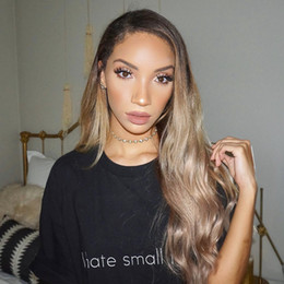 Ombre Kinky Lace Wigs Australia - Sexy Brazilian human hair kinky straight Ombre Color full lace hair wig for women with baby hair lace front wig natural hairline