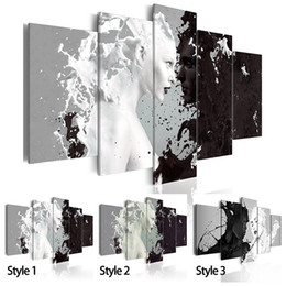 $enCountryForm.capitalKeyWord UK - ( No Frame ) Canvas Print Modern Fashion Wall Art the Black and White Abstract Ink Character Love for Home Decoration Choose Color & Size