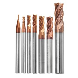 $enCountryForm.capitalKeyWord Australia - Durable 1-8mm 4 Flutes Tungsten Carbide End Mill Cutter HRC55 AlTiN Coating End Mill Cutter For CNC Tool
