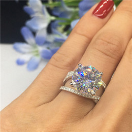 $enCountryForm.capitalKeyWord Australia - Shiny Big Stone Zircon Ring For Women Bridal Wedding Engagement Promise Female Fashion Jewelry Size 6 to 10