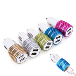 smart lighters UK - Universal 2 Port Adapter Dual Cigarette lighter charger USB Car Charger For Smart Mobile Cell Phone