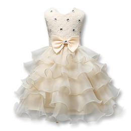 baby dresses cotton for wedding Australia - Flower Girl Dress For Wedding Baby Girl 0-8 Years Birthday Outfits Children's Girls Dresses Girl Kids Party Prom Ball Gown