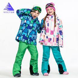 $enCountryForm.capitalKeyWord NZ - Winter Suit For Girl Kids Clothes Ski Suit Warm Waterproof Windproof Snowboard Sets zestaw snowboardowy