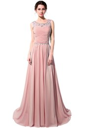 long modest prom dresses pleats UK - 100% Real Picture Elegant A-Line Deep Jewel Prom Dress Spaghetti Modest Special Occasion Long Formal Evening Dresses Maxi Gown SD184