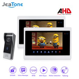 $enCountryForm.capitalKeyWord NZ - JeaTone 1 to 2 Wired 7'' Video Door Phone Intercom Door Bell Home Enter Security System Motion Detection Touch Button MP4 Player AHD 720P