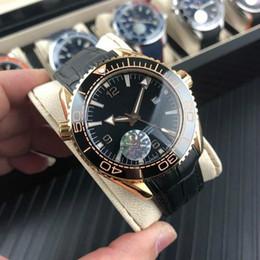GA750 orologio meccanico da polso 44mm13mm movimento meccanico tiecheng occidentale blu - vetro placcato - ceramica anello bocca acciaio 316 ca