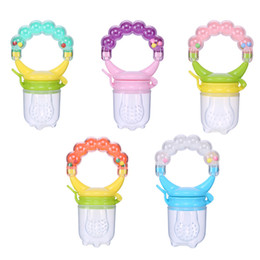 vegetable toy baby UK - Silicone Infant Baby Pacifier Feeder Fruits Vegetables Feeding Dummy Nipple Teat Rattle Feeding Toy Baby Supplies Food Feeder