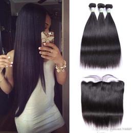 $enCountryForm.capitalKeyWord Australia - Straight Hair Bundles With Frontal Non-Remy Human Hair Bundles With Closure Brazilian Hair Weave Bundles With Closure