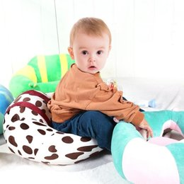 infant feeding chairs UK - Cartoon Baby Winter Tv Feeding Seat Cushion For Living Room Decor Infant Soft Car Travel Sit Support Filler Plush Chair Cushion SH190814