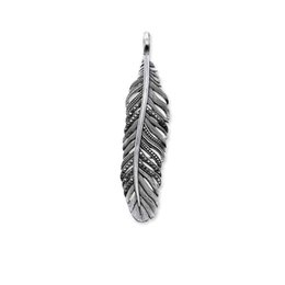 $enCountryForm.capitalKeyWord UK - Feather Pendants for Necklace Thomas Style Black CZ Silver Fashion DIY Jewelry Making Accessories for Women Men 2018 New Arrival
